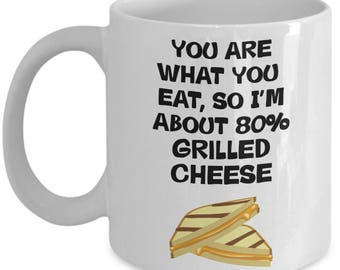 Grilled Cheese Mug - Funny Gag Gift Coffee Cup for Grilled Cheese Sandwich Eaters