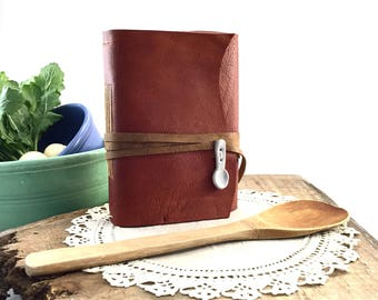 Handmade Leather Recipe Book, Blank Leather Recipe Book, Leather Recipe Journal, Handmade Leather Cook Book, Blank Leather Cook Book