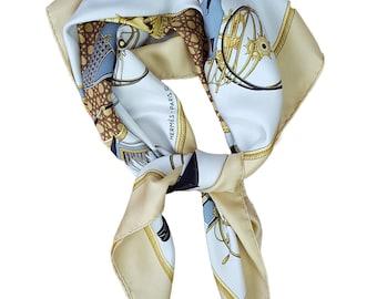 VINTAGE HERMÈS Les Voitures à Transformation Silk Scarf 90cm
