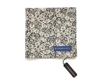 Men's Grey Floral Cotton Pocket Square Handkerchief Hanky Hankie Squares Tie Suits Men