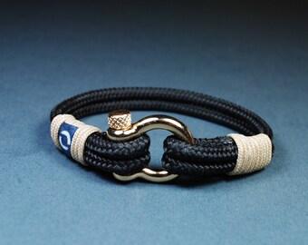 Gift For Him / Mens Jewelry / Surf Bracelet / Christmas Gift / Rope Bracelet / Gift For Boyfriend Gift For Her / Black Bracelet / Black