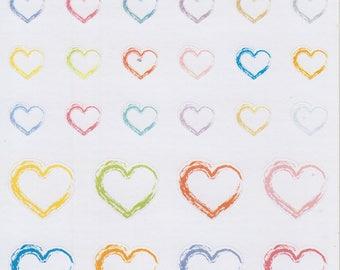 Rustic Hearts | 068 | Planner Stickers | Happy Planner | Kikki-K | Erin Condren
