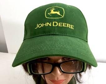 John Deere Trucker Hat Vintage Green & Gold John Deere Tractor Owner's Edition Vintage Dad Hat Hipster Clothing Nothing Runs Like a Deere