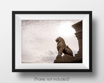 Lion of St. Stephen, Budapest, Hungary, Europe, Matthias Church, Guardian, Photographic Print, Wall Art, Architectural Photography, Bold