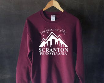 The Electric City Sweatshirt Sweater, Scranton Sweater, Dunder Mifflin The Office Sweater Sweatshirt, Dwight Schrute, Michael Scott