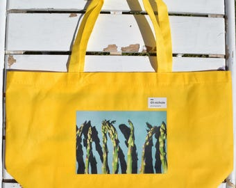 Asparagus Tote in Yellow