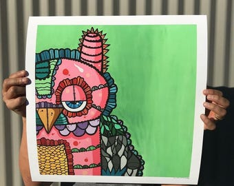 Mr. Pink 17 by 17 Limited Edition Art Print