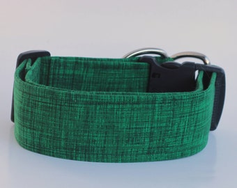 Green Thatching Dog Collar