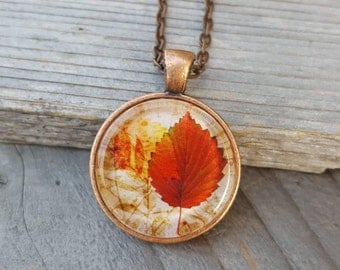 Vintage Leaf Necklace, Vintage Look, Antique Copper ,Rustic Look, Nature Lover, Autumn Fashion, Trending Necklace, Copper Jewelry