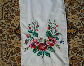 Ukrainian hand embroidered towel. Vintage towel. Made in ukraine. Home decor. Ukrainian embroidery. Hand embroidery. Folk art. Country style