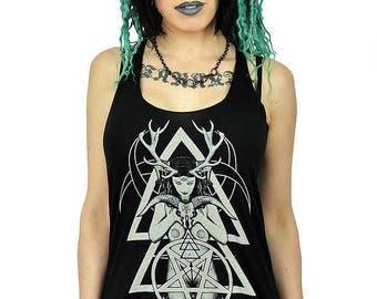 Horned Goddess Tank Occult Clothing