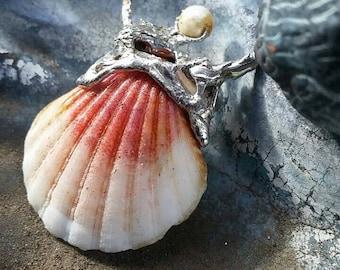 Little Seashell Mermaid Pendant