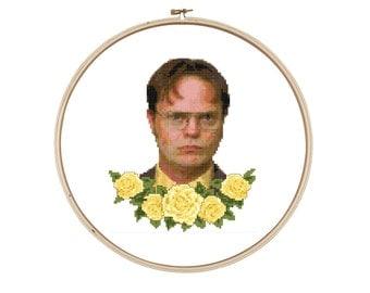 Dwight Schrute Cross Stitch Pattern