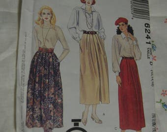 McCalls 6241 Misses Skirts Sewing Pattern UNCUT Size 12 14 16 - Skirt with Front Pleat Variations