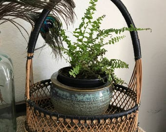 Beautiful vintage wicker basket