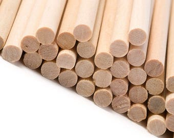 50- Round Wooden Sticks for Candy Apples Baking and Candy Making Cake Pop Sticks Craft Projects DIY Cookie Lollipop Sticks Sticks for Apples