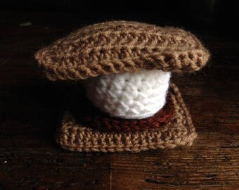 Crochet S'mores - Amigurumi - Play Pretend Food - Made to Order