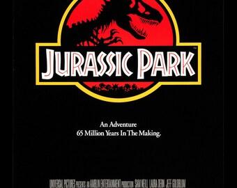 Jurassic Park Cult Film Movie Poster Print Retro Vintage Steven Spielberg A1 A2 A3 A4