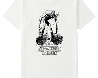 Stranger Things - 11 vs The Demagorgon ( Monster )  - Toddler / Youth / Adult Unisex Printed T Shirt