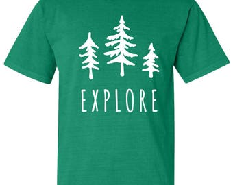 Explore Trees National Park Adventure Comfort Colors TShirt