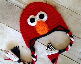 Elmo Inspired Crochet Hat