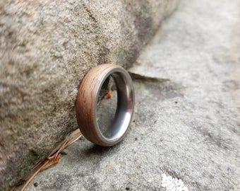 Wedding band, wood ring, metal ring, titanium ring, men's wood ring, woman's wood ring, men's wedding band, men's ring, woman's  ring