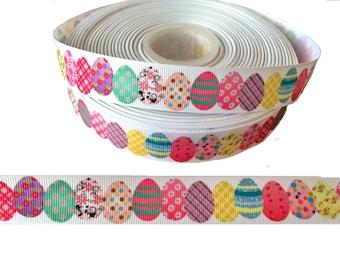 """Easter Egg ~ Grosgrain Ribbon  ~7/8"""" ~ 7/8 inch"""