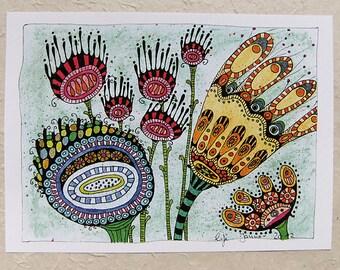 Digital printing A4, flowers