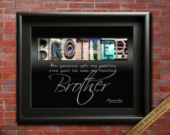 Brother Gift For Brother Wedding Gift for Brothers Birthday Gift for Brother in law Gift Brother Graduation Brother poem Brother Definition