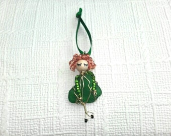 Irish Dancer Figurine,Irish dance,Irish dancer,sea glass art,Irish dance gift,dance gift,irish dance charm,Irish dancer gift,riverdance gift