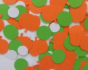 Pumpkin confetti