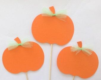 Pumpkin centerpiece sticks