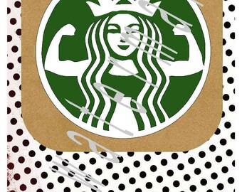 Starbucks svg - Gym shirt svg - silhouette cameo cricut - Gym shirt working out Running shirt svg weights svg kettle ball STARBUFF funny svg