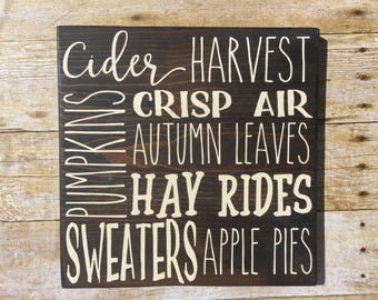 Fall Farmhouse Decor, Thanksgiving sign, Fall wood sign, Autumn Decor, Hay ride, Autumn Leaves, Rae Dunn Fall Pumpkin Sign, Fall sign