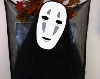 Spirited Away No Face mask - No Face from Spirited away, No Face cosplay mask, Spirited Away, Paper Mache Mask, Costume Headdress, Comic Con