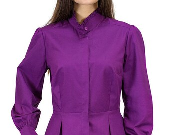 Victorian Blouse in Heather