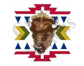 Native American Buffalo - Machine Embroidery Design