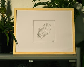 Feather - Original drawing