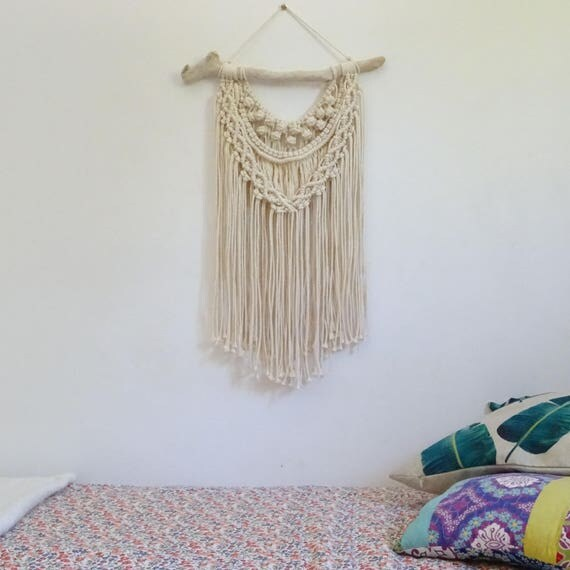 macrame mural tenture murale en macram suspension. Black Bedroom Furniture Sets. Home Design Ideas
