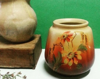Vintage Hand-Painted Ceramic Vase