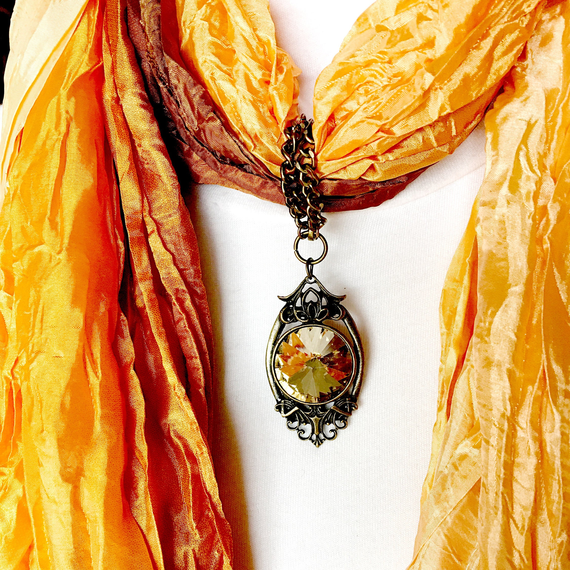 Yellow topaz scarf pendant scarf jewelry ring gold scarf slide yellow topaz scarf pendant scarf jewelry ring gold scarf slide scarf necklace jewelry scarves for women gold scarf clip mozeypictures Choice Image