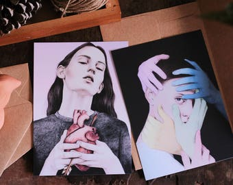Limited Edition of Signed and Numbered Postcard Sized Fine Art  Print Set