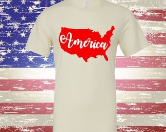 American TShirt, USA TShirt, Independence Day Tee, Pick Your Color of Tee and Design