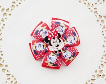 Mickey Mouse Bow Minnie Mouse Bow Minnie Headband Mickey Headband Disney Bow Minnie Hair Clip Minnie Birthday Mickey Mouse Party Minnie Clip