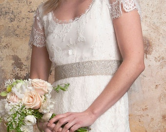 1920s Lace Wedding Dress With Train NEW REDUCED PRICE