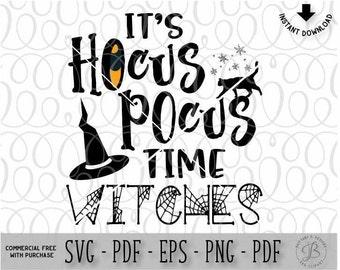 Hocus Pocus SVG, Witch SVG, Halloween SVG, Hocus Pocus cut file, Cat svg, Witch cut file, svg files for cricut, svg