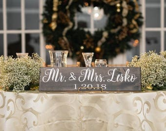 Mr and Mrs Wood Sweetheart Table Sign   Mr and Mrs Sweetheart Table Sign   Sweetheart Table   Mr and Mrs Sign   Wedding Sign   Mr and Mrs  