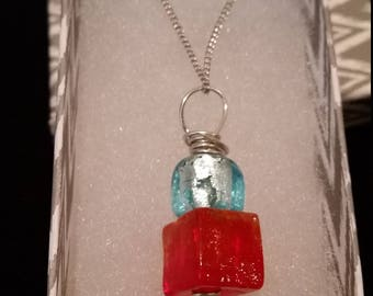 Stacked Cube Pendant Necklace