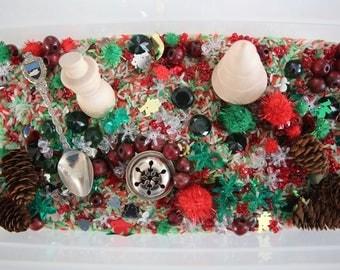 Christmas Sensory Mix, Winter Holidays, Montessori, Sensory Bin, Reggio, Loose Parts, Sensory Processing, Scooping