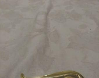 Vintage Gold Tone Musical Note/Instrument Brooch - Large Abstract Swirls Brooch - 1970s